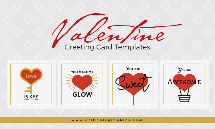 4 Free Valentine Greeting Card Templates Dribbble Graphics