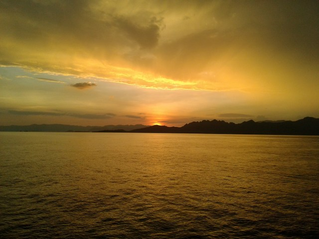 Golden Light of Sangeang Island