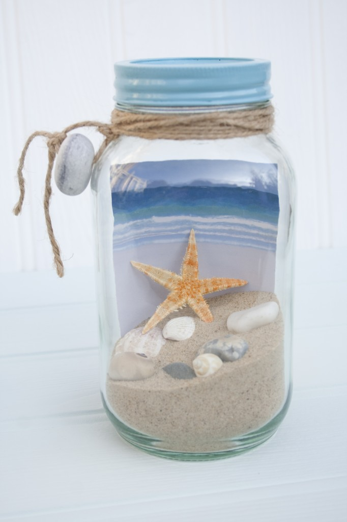 Diy Frascos Decorados Beach In A Jar - Large - Driftwood Dreaming