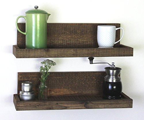 Reclaimed Rustic Wood Floating Shelves Shallow Depth Set