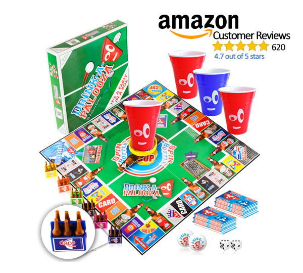 DRINK-A-PALOOZA Ultimate Party Board Game \u2013 GET THE PARTY STARTED!