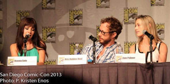 Ksenia Solo, Kris Holden-Ried, and Zoie Palmer at the SDCC 2013 Lost Girl Panel