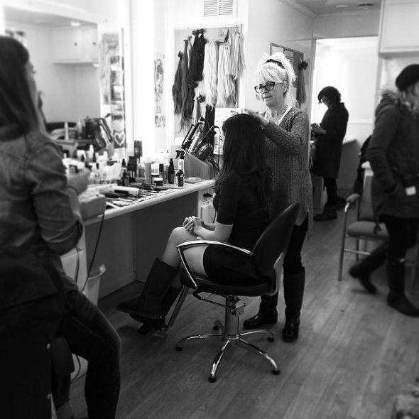 Anna Silk in makeup chair