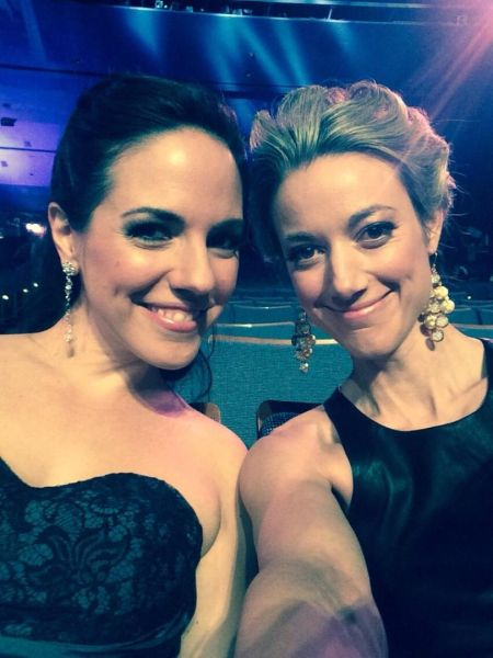 Anna Silk and Zoie Palmer at the Canadian Screen Awards 2014 (Source: Zoie Palmer)