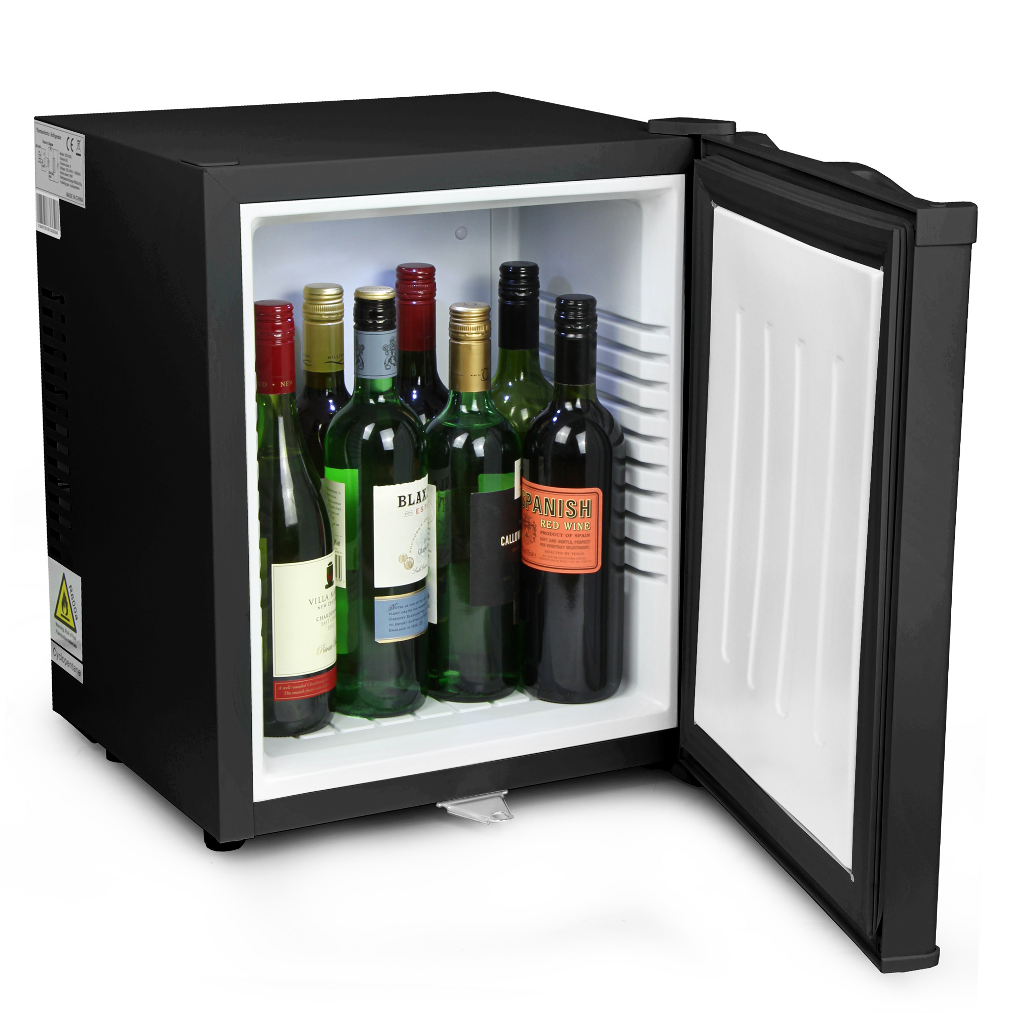 Kuche Bar Fridge Review Chillquiet Silent Mini Fridge 24ltr Black With Lock