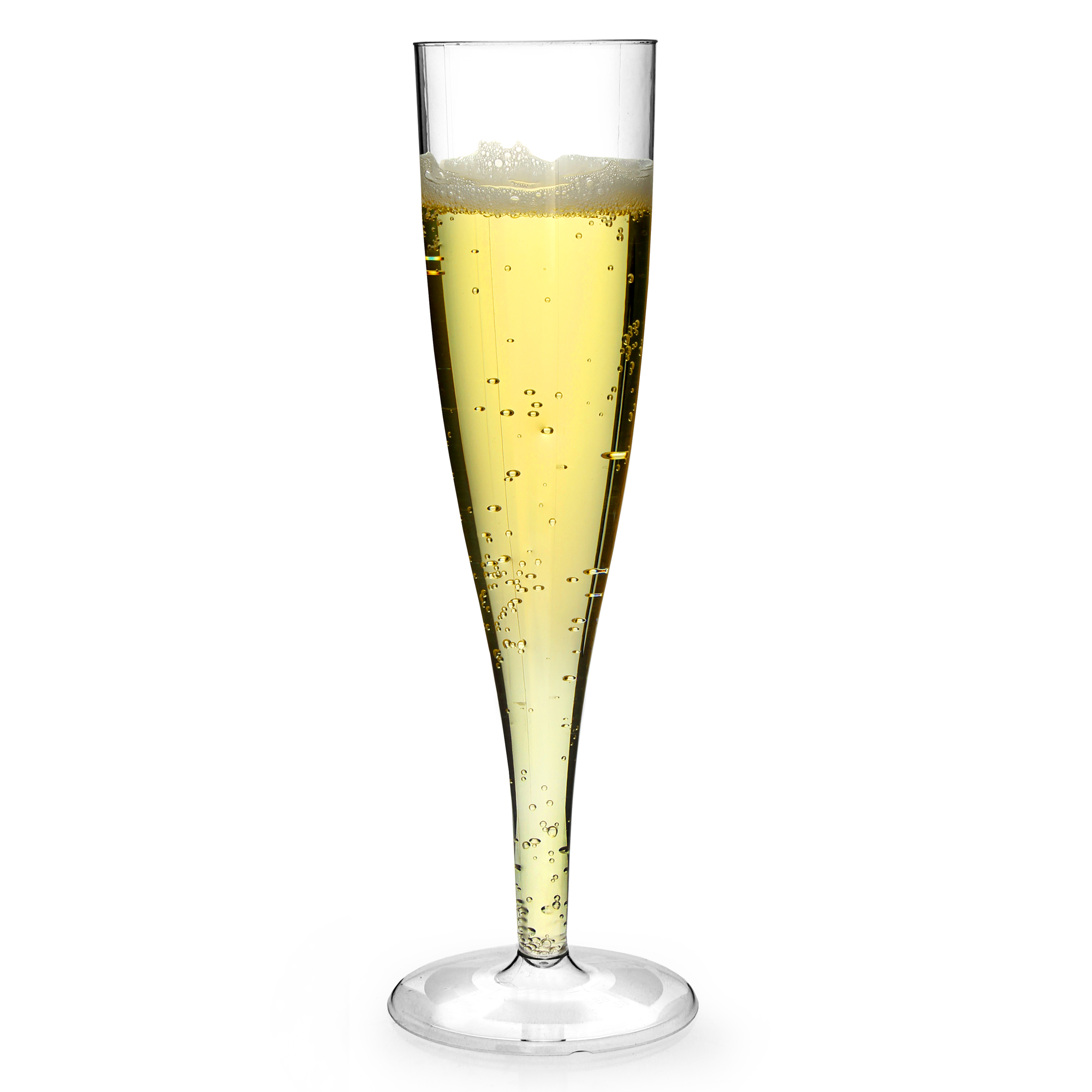 Champagner Glas Disposable Plastic Champagne Flute Glass Lined At 100ml