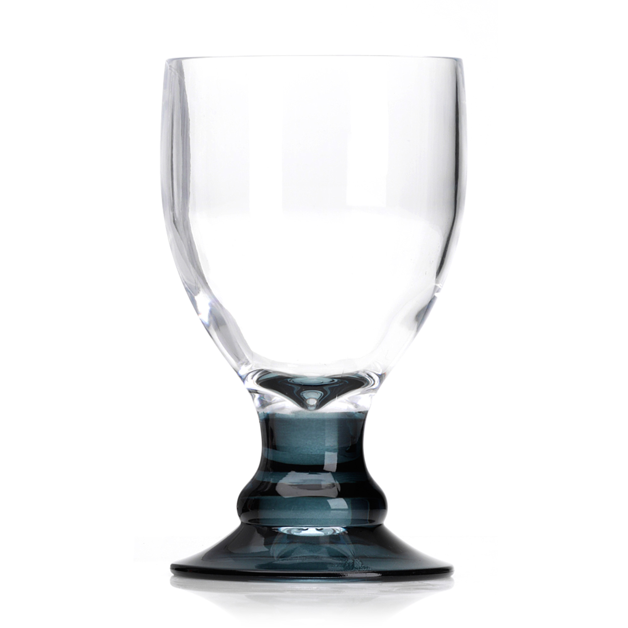 Wine Glasses With Black Stems Flamefield Bella Acrylic Goblets With Black Stem 410ml