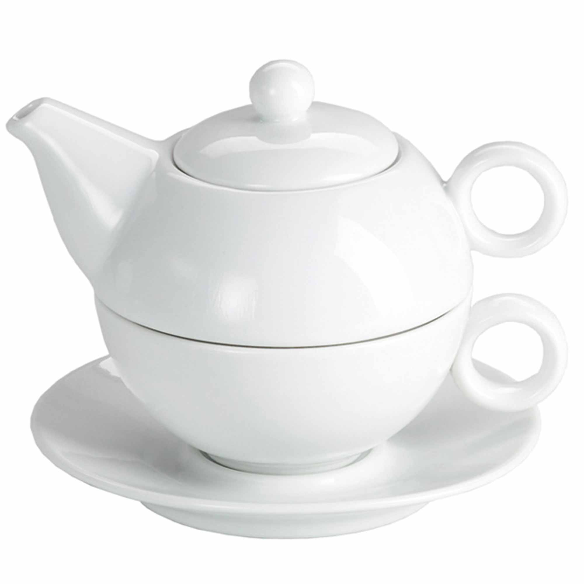 Teapot With Cup Moonlight White Tea For One Teapot And Cup Set 250ml