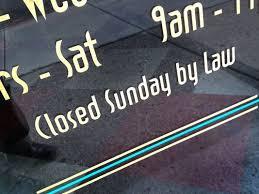 liquor sales sunday closed