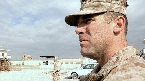 Major Bill Steuber ist der Kommandeur des kleinen Teams, das die afghanische Polizei berät. Bild: BBC World News