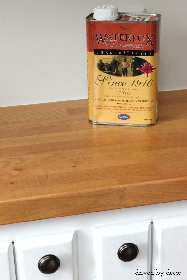 Treating Butcher Block Countertops Waterlox Vs Mineral