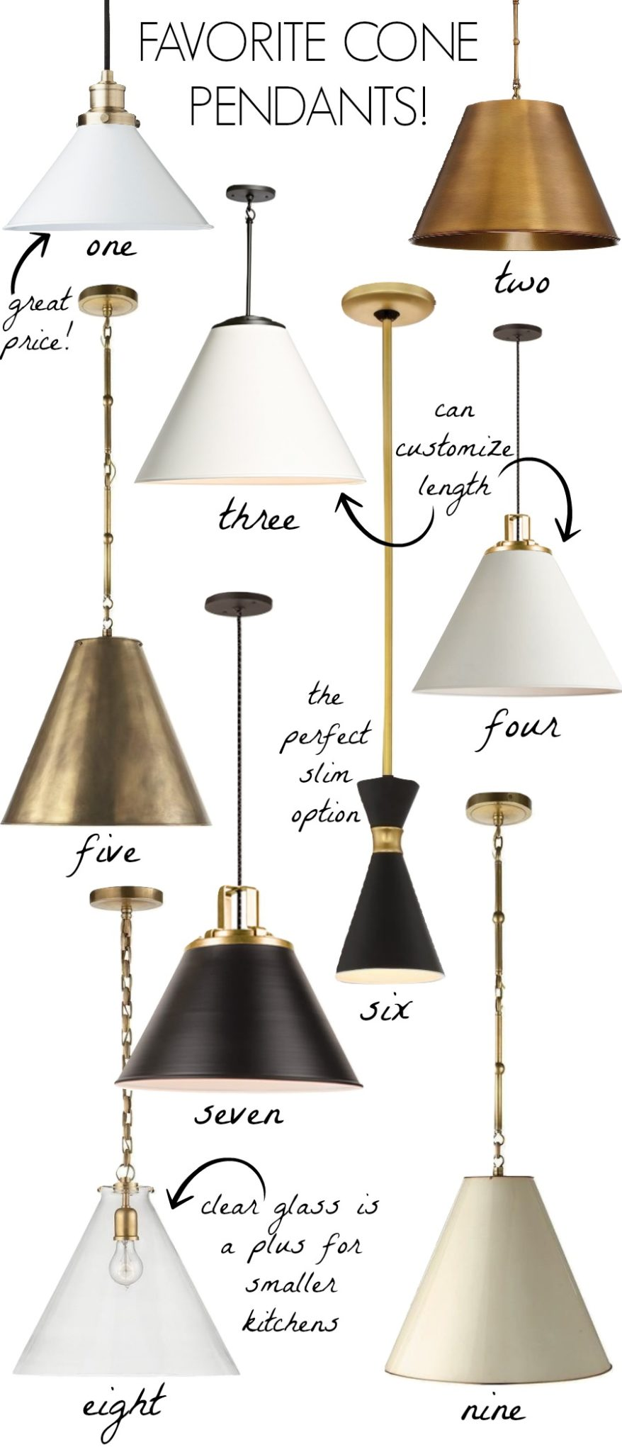 Black Kitchen Light Cone Pendants New Lighting For Our Kitchen Driven By Decor