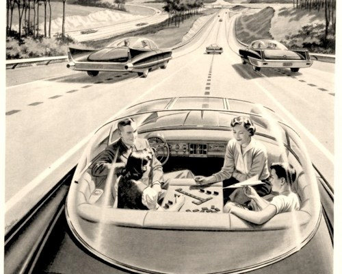 1957 Driverless Car of the Future