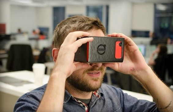 Virtually test drive a Volvo using Google Cardboard