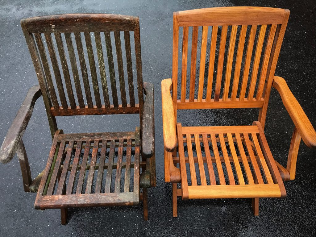 Teak Garden Furniture Cleaning Worcestershire Gloucestershire