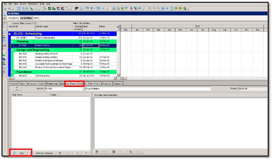 Creating a Checklist Using Steps -