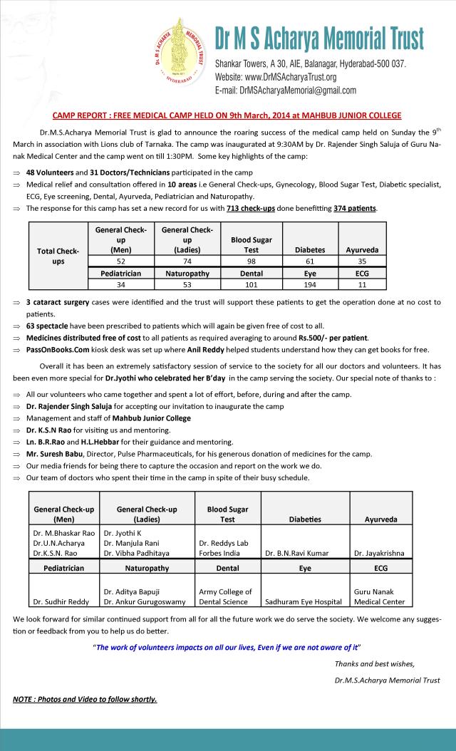 camp report1