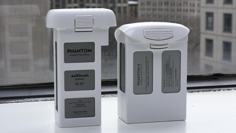 DJI Phantom 4 battery Akku Vergleich Phantom 3
