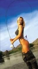 Girl catches bikini