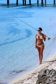 Fishing the clear waters