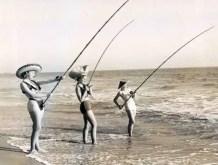 Old school fishing girls