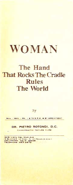 hands that rock the cradle rule the world essay Minnesota public radio is one of the nation'  rock the cradle playlist pulling out all the stops for michael barone's 50th anniversary fifty years ago today,.
