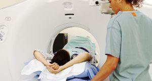 Patient having ultrasound