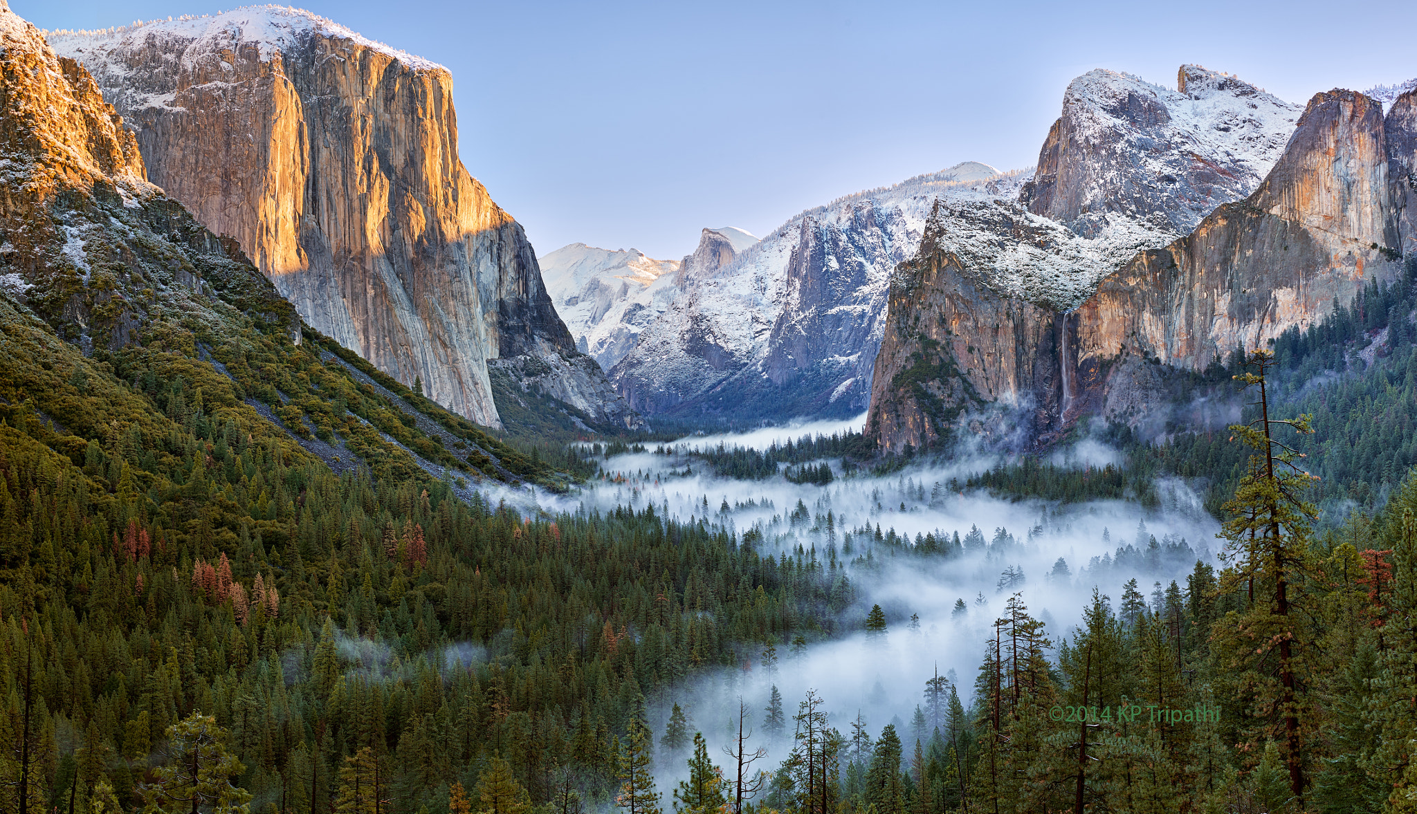 Fall Scenes Desktop Wallpaper Michaelpocketlist Morning Fog At Tunnel View Yosemite