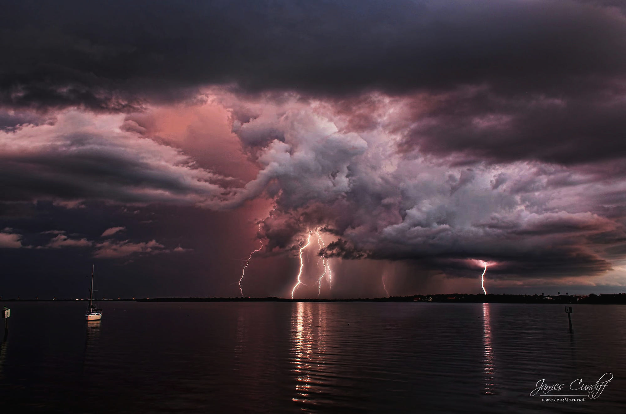 Dark Images Wallpaper Hd Lightning Storm Over Tampa Florida By James Cundiff