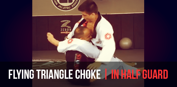 guard pass with flying triangle choke counter