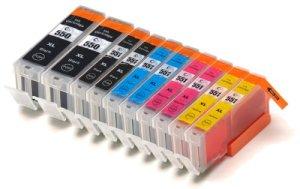 10 kompatible Druckerpatronen XL mit CHIP und Füllstandsanzeige für Canon Pixma IP 7250 IP 8750 IX 6850 MG 5450 MG 5550 MG 6350 MG 6450 MG 7150 MX 725 ersetzt PGI-550, CLI-551BK, CLI-551C, CLI-551M, CLI-551Y
