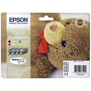 Epson T0615 Tintenpatrone Teddybär, Multipack, 4-farbig