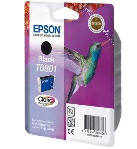 Epson T0801 Tintenpatrone Kolibri, Singlepack, schwarz