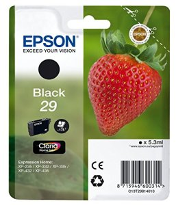 Epson C13T29814010 Tintenpatrone Erdbeere (Singlepack) schwarz