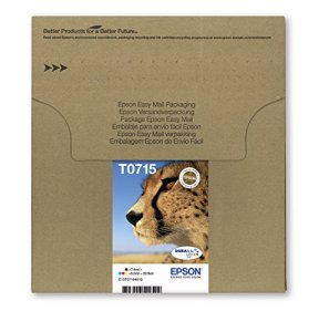 Epson T0715 Tintenpatronen, Gepard, Multipack 4-farbig (Frustfreie Verpackung)