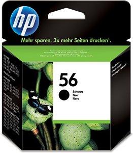 HP 56 Schwarz Original Druckerpatrone für HP Deskjet, HP Photosmart, HP Officejet, HP PSC + u.a.