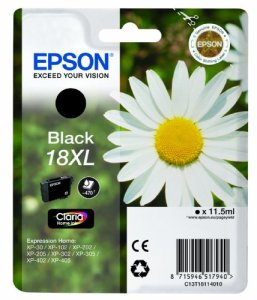 Epson T1811 Tintenpatrone Gänseblümchen, Singlepack, schwarz XL