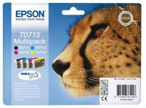Epson T0715 Tintenpatronen Gepard, Multipack, 4-farbig