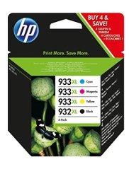 HP 932XL/933XL Original Tintenpatronen mit hoher Reichweite 4er Pack, schwarz/cyan/magenta/gelb