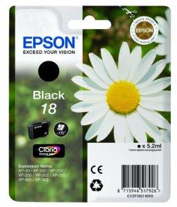 Epson T1801 Tintenpatrone Gänseblümchen, Singlepack, schwarz