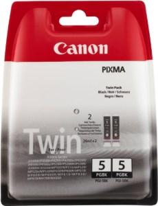 Canon PGI-5 BK Original Tintenpatronen, Doppelpack 2x26ml, schwarz