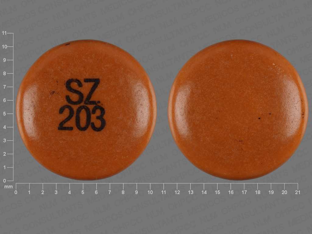 Sz Photo Sz 203 Pill Images Yellow Round