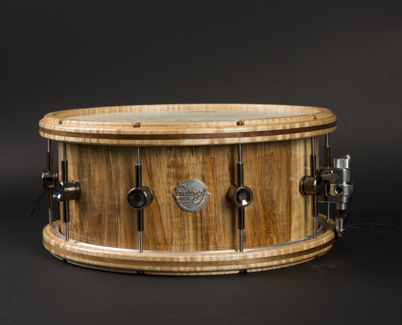 "Wild Wild West: 14"" x 6"" steam-bent bird's-eye maple"