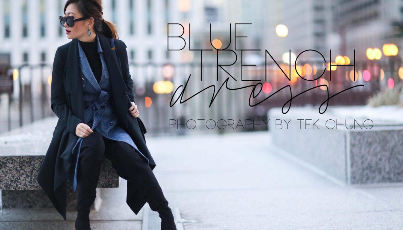 MARISSA WEBB BLUE TRENCH DRESS
