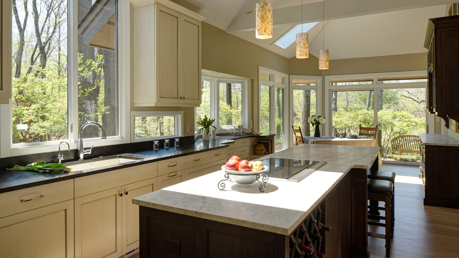 Long Kitchen Design Pictures Long On Looks Traditional Kitchen Design Wheaton Drury Design