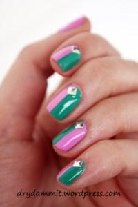 Australis Indie & Australis K-Pop colour block nail art ...