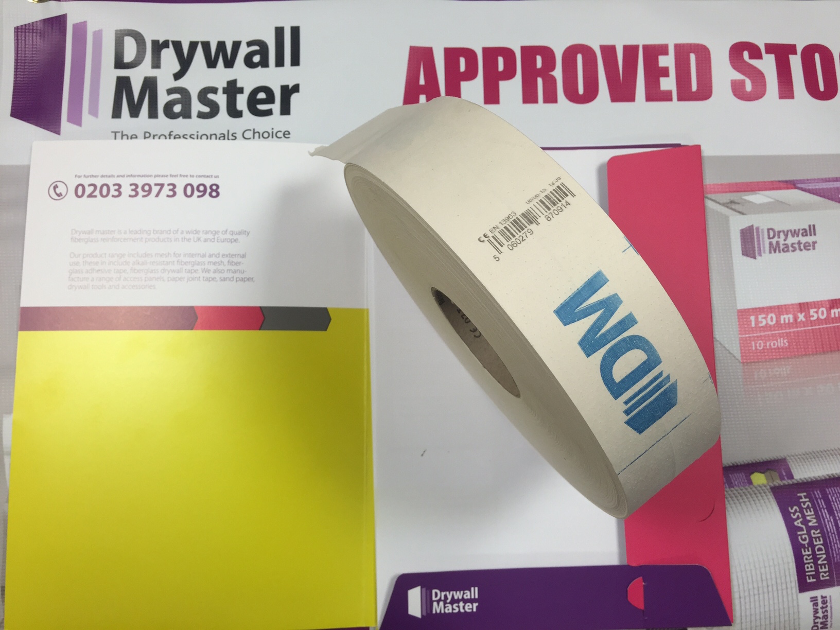 Drywall Paper Tape Drywall Master Plasterboard Paper Joint Tape 50mmx150m Ce Approved