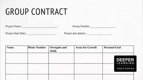 Student Group Contracts Facilitate Better Collaboration (Deeper - Student Contract Templates