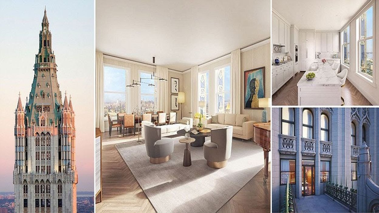 Architecte D'intérieur New York Penthouse In The Iconic Woolworth Building Manhattan Dubbed The Pinnacle Goes On Sale For 110m