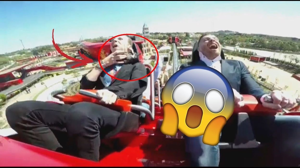 Port Aventura Manege Pigeon Attack On Red Force At Ferrariland Port Aventura 12 04 2017